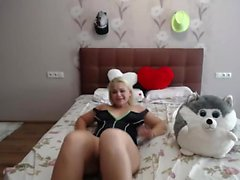 Jizz spurting jerk off from blonde babe