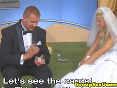 Bride to be getting pussylicked during game