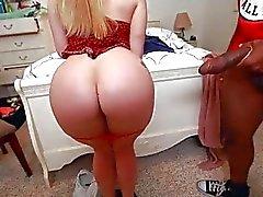 AJ Applegate swallows a load of cum