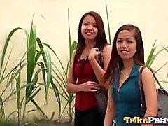 Geiles philippinische Aiza erfolgt nach Sex nach ihre beste Freundin motzt