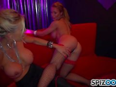 A hot lesbian stripper