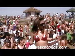 Festa sulla spiaggia Casa Video di durante lo Spring Break di South Padre 1