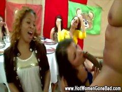 Horny cfnm party whores