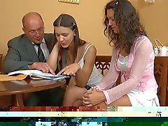 Enchanting babe offers her pussy for teachers joy