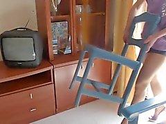 Hausfrau vuonna Nailoneita und High Heels 01