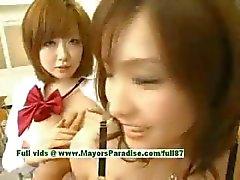 Nao Ayukawa ja Rio Hanasaki viaton tuhma Aasian koulutytöt vittu koulun jälkeen
