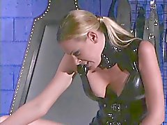 Dominatrix takes her new slave home