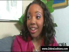 Zebra Lesbians - Nasty ebony babes love strap-on fuck 19