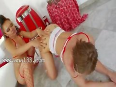 Luxury lezz anal sex with strapon
