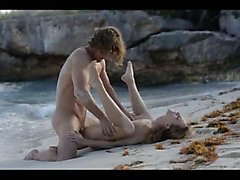hot art sex of horny couple on beach