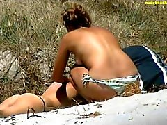two nice back packers at beach in nz