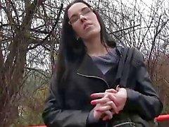 PublicAgent Bir yabancı ile ormandaki Sex
