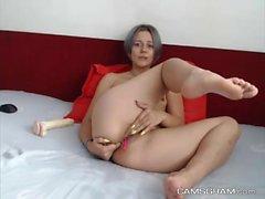 Naughty Skinny Masturbating & Final Squirt