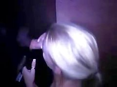Hungry German Blonde at a Glory Hole