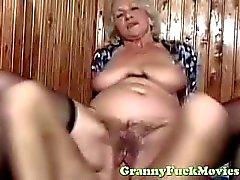 dude fucks sexy euro granny