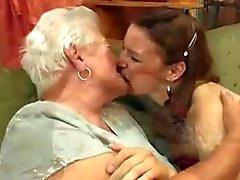 lesbisk Granny