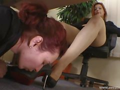 Goddess Victoria Under Desk Foot Domination