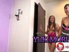 Arial Rose and Yuki Mori Roommate Cock Suck HD