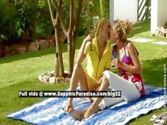 Alison and Judit lesbo girls teasing