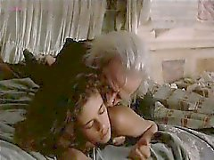 Anne Knecht naked lying on bed while a guy enters an starts