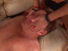 Girls dominant man