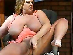 Doido quentes curvas das celebridades XXX louro Zoey de Andrews