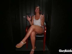 Gloryhole Secrets see how 2 young cuties suck dick