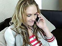 Blonde teeny creampied