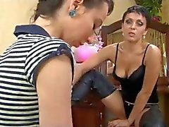 Russian Milf Teaching Not Her Daughter BVR