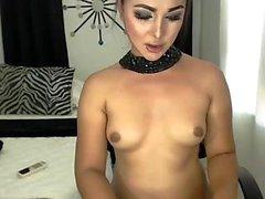 Small tits solo Tranny posing alone