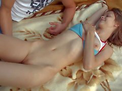 Young Beata gets fingered on picnic