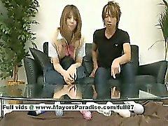 Risa Tsukino unschuldiger chinesischen Mädchens ist eine nette Schul