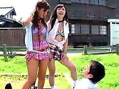 Japanska slampor retas en grabb Det Sök