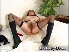 Stunning round tits mom dildo fucked part6
