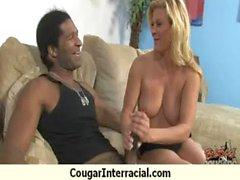 Cougar fucks a huge black monster cock 23