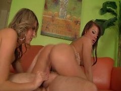 Two Girls Get Creampied By One Guy - Scene 2