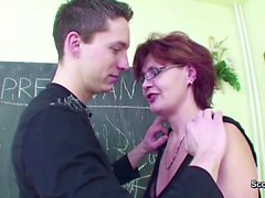Female MILF Teacher Show Him how to get Pregnant