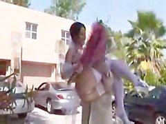 Rebeca Linares anal bride threesome