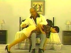 A vintage spanking for 2 beauties