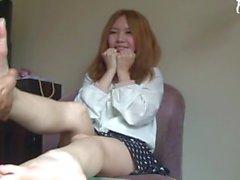 Kiinalaisen tyttö sinulla Jalka Hieronta