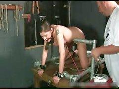 Kinky brunette slut is bound and spanked part6