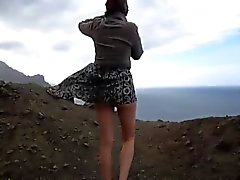 Windy day upskirt