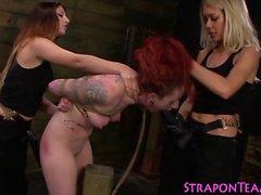Bound tat lesbian slave