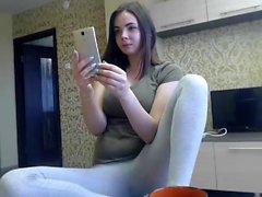 Huge boobs brunette teen Cassidy Banks loves big cock
