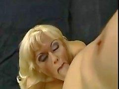 Blond smoking and masturbation