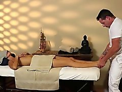 Very tricky massage room of delicate masseur