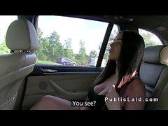 Busty amerikanska Babe idioterna inom fake taxi