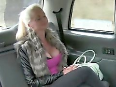 Sexy amateur blonde passenger banged in the backseat