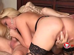 Blonde whore in stockings HD