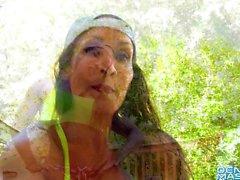 Denise Masino - Back Yard Pump You Up - Female Bodybuilder